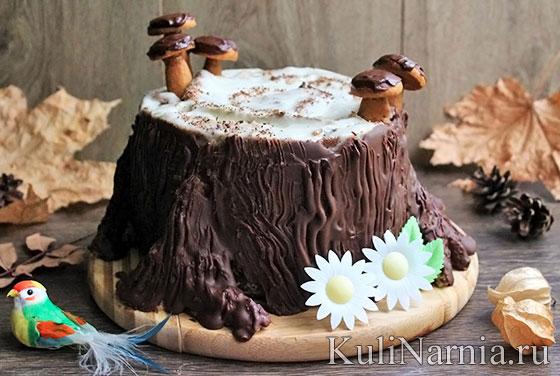 Трухлявый пень торт