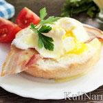 Яйца Бенедикт под соусом голландез