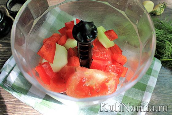 Рецепт томатного супа гаспачо