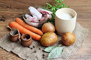 Куриный суп с рисом и картошкой состав