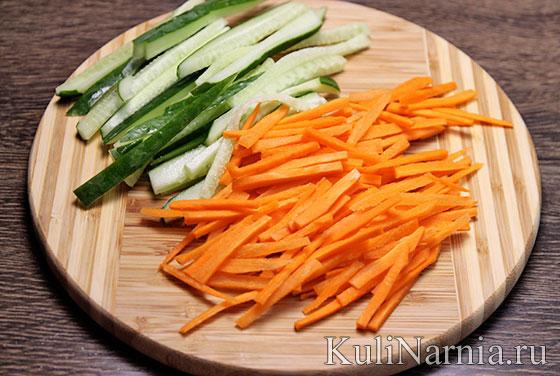 Овощные спринг роллы рецепт