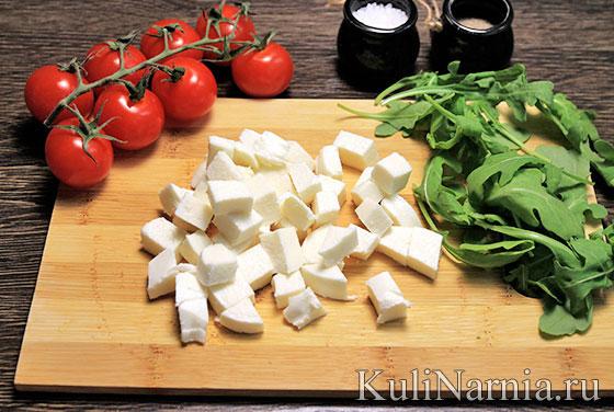 Рецепт салата с моцареллой