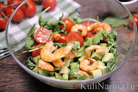 Салат с рукколой и бальзамическим уксусом