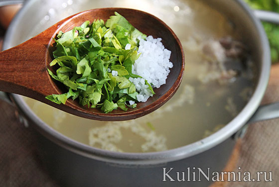 Суп на курином бульоне с рисом