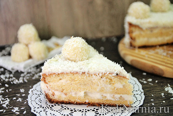Торт рафаэлло пошаговый рецепт