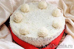 Торт рафаэлло пошаговый рецепт с фото
