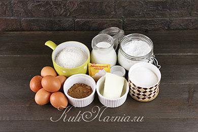 Ехклеры с заварным кремом ингредиенты