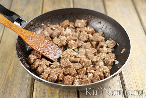 Гуляш из говядины с подливкой рецепт