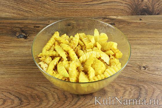 Рецепт картошки фри в духовке с фото
