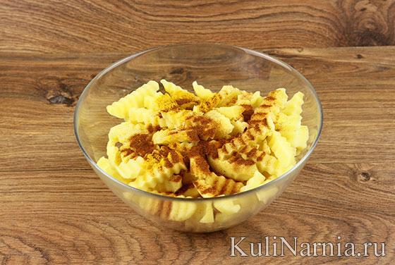 домашний рецепт картошки фри в духовке