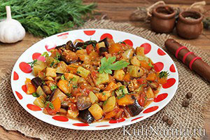 Рецепт овощного рагу с кабачками и баклажанами