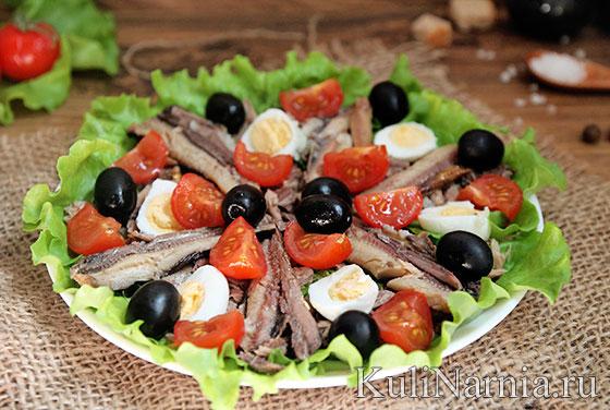 Салат Нисуаз рецепт с тунцом