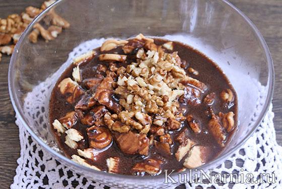 Как приготовить шоколадную колбаску из печенья