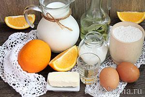 Тонкие блинчики на молоке состав