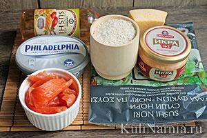 роллы запеченные дома пошаговый рецепт с фото