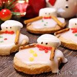 Новогоднее печенье «Растаявший снеговик»