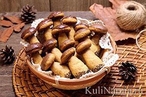 Печенье грибочки рецепт с фото1