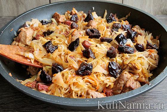 Рецепт бигуса с мясом и капустой