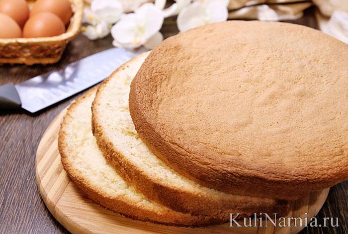 рецепт бисквита фото