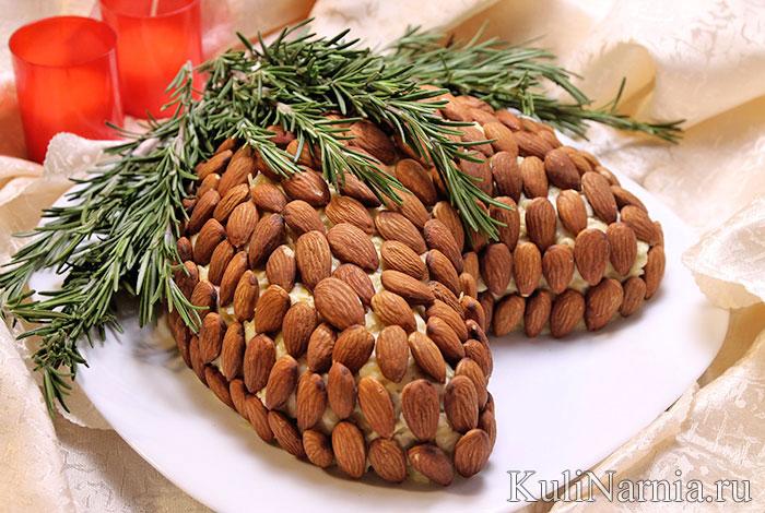 Салат Шишка с миндалем рецепт