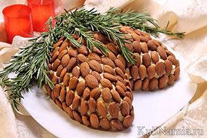 Салат Шишка с миндалем рецепт1