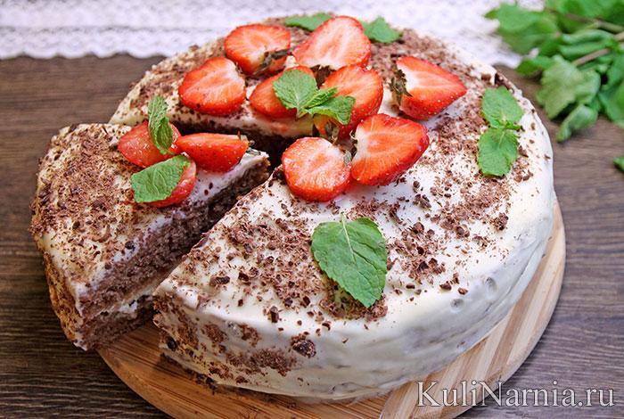 Шоколадный торт на кефире Фантастика
