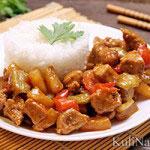 Свинина в кисло-сладком соусе (по-китайски)