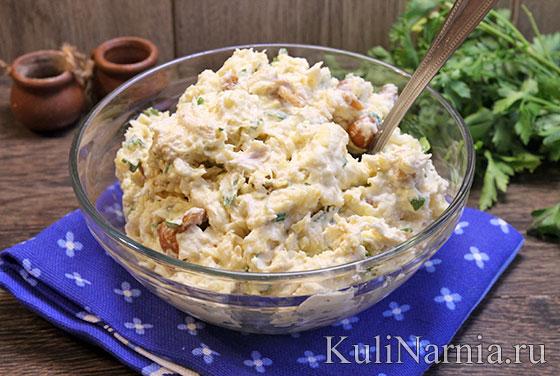 Салат Пенек с грибами рецепт