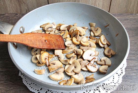жульен в тарталетках с грибами и курицей с фото