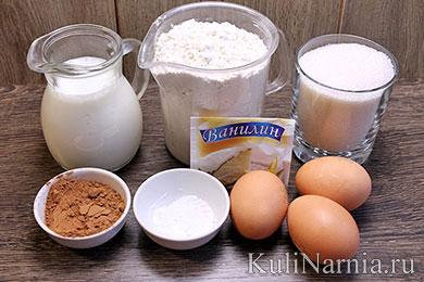 Пирог Зебра ингредиенты