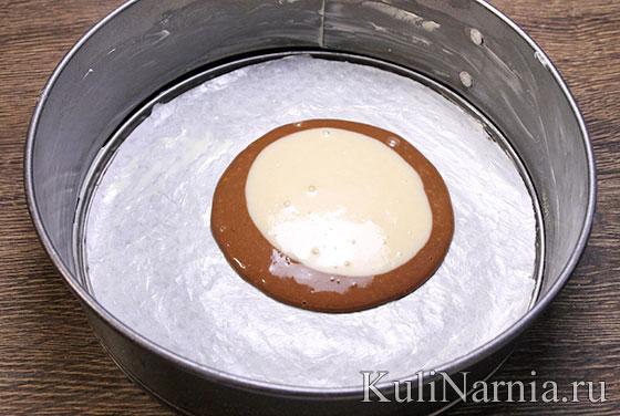 Пирог Зебра рецепт на кефире