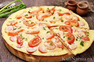 Пицца Минутка рецепт на сковороде