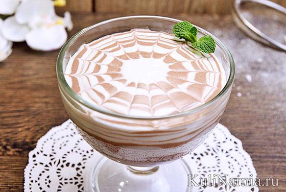 Сметанное желе с какао
