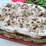 Торт с прослойкой безе и орехами