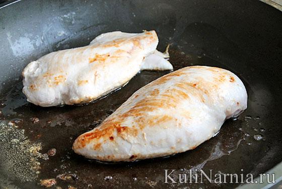 Куриная грудка в сливках в духовке рецепт