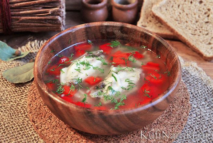 Суп из куриных крылышек рецепт