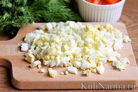 Блины с семгой и яйцом рецепт