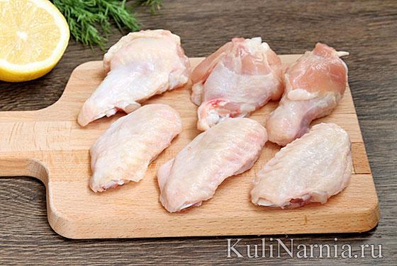 Куриные крылышки на сковороде рецепт пошагово