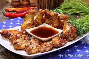 Куриные крылышки на сковороде рецепт с фото
