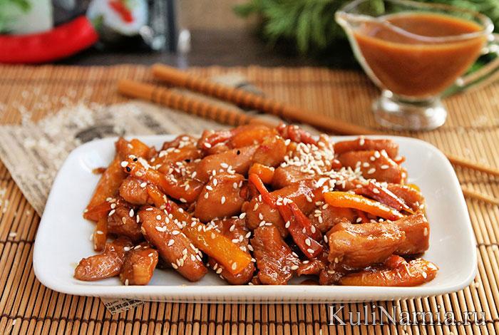 курица со соусом в духовке рецепт