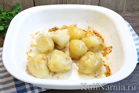Окорочка в духовке с картофелем