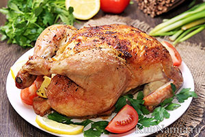 Курица в духовке целиком рецепт с фото