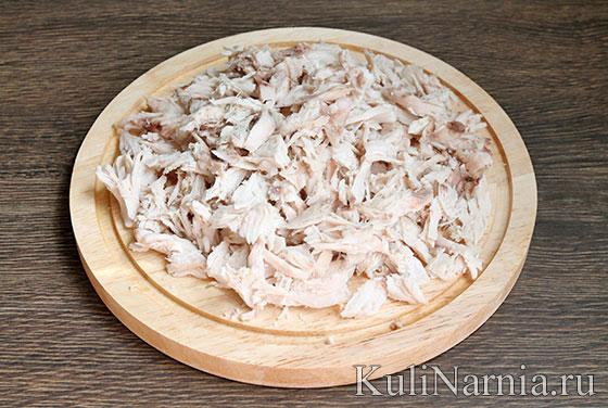 Салат Арбузная долька с курицей рецепт