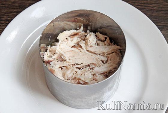 Салат с картошкой фри и курицей рецепт