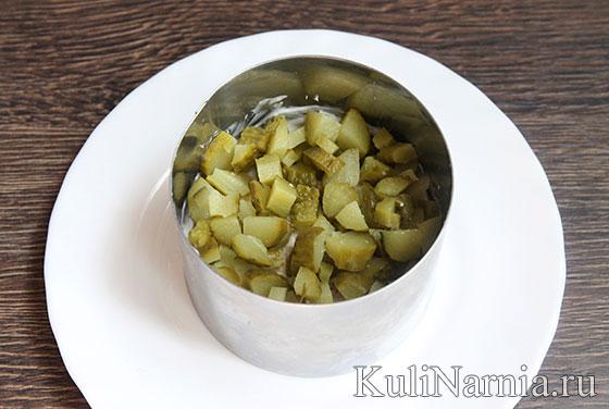 Салат с картошкой фри и огурцами рецепт