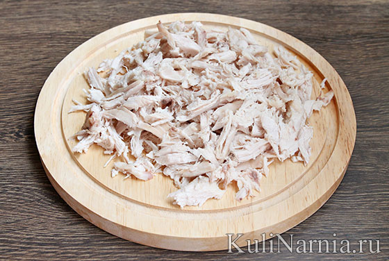 Салат Восторг с корейской морковью рецепт