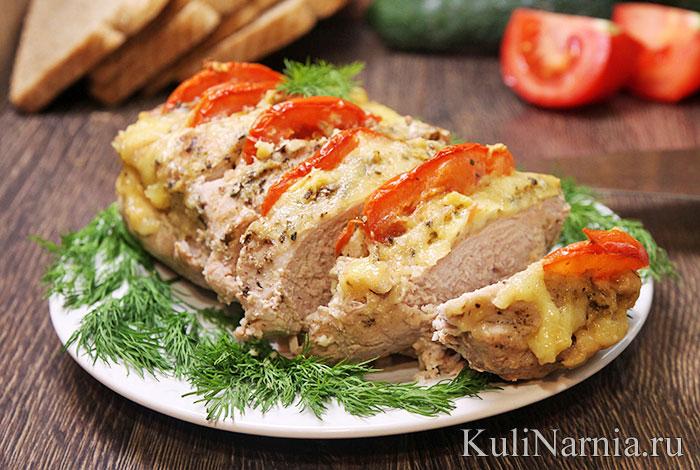 Мясо гармошка в фольге в духовке