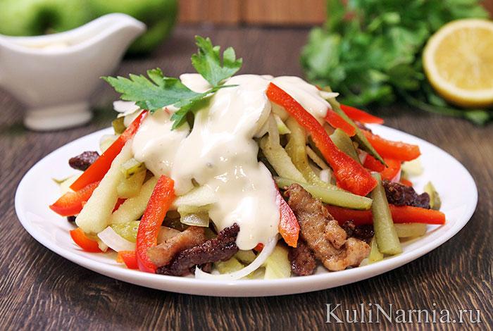 Салат «Пражский» с говядиной и болгарским перцем