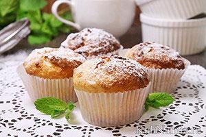Творожные кексы в силиконовых формочках рецепт