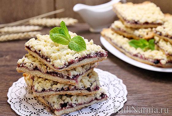 Пирог печенье с вареньем